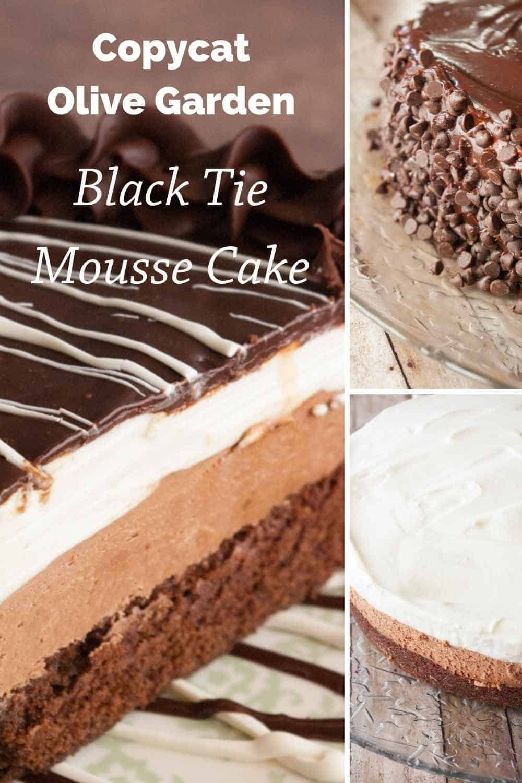 Black tie mousse cake mousse cake chocolate mousse cake