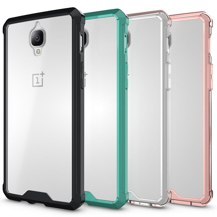 For Oneplus 3T Case Crystal Hybrid Bumper Clear Hard Acrylic Back Cover For Oneplus 3T One Plus 3 3T Phone Cases Transparent