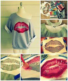 Kiss me lip sweatshirt diy diy fashion diy fashion projects and kiss me lip sweatshirt diy solutioingenieria Gallery