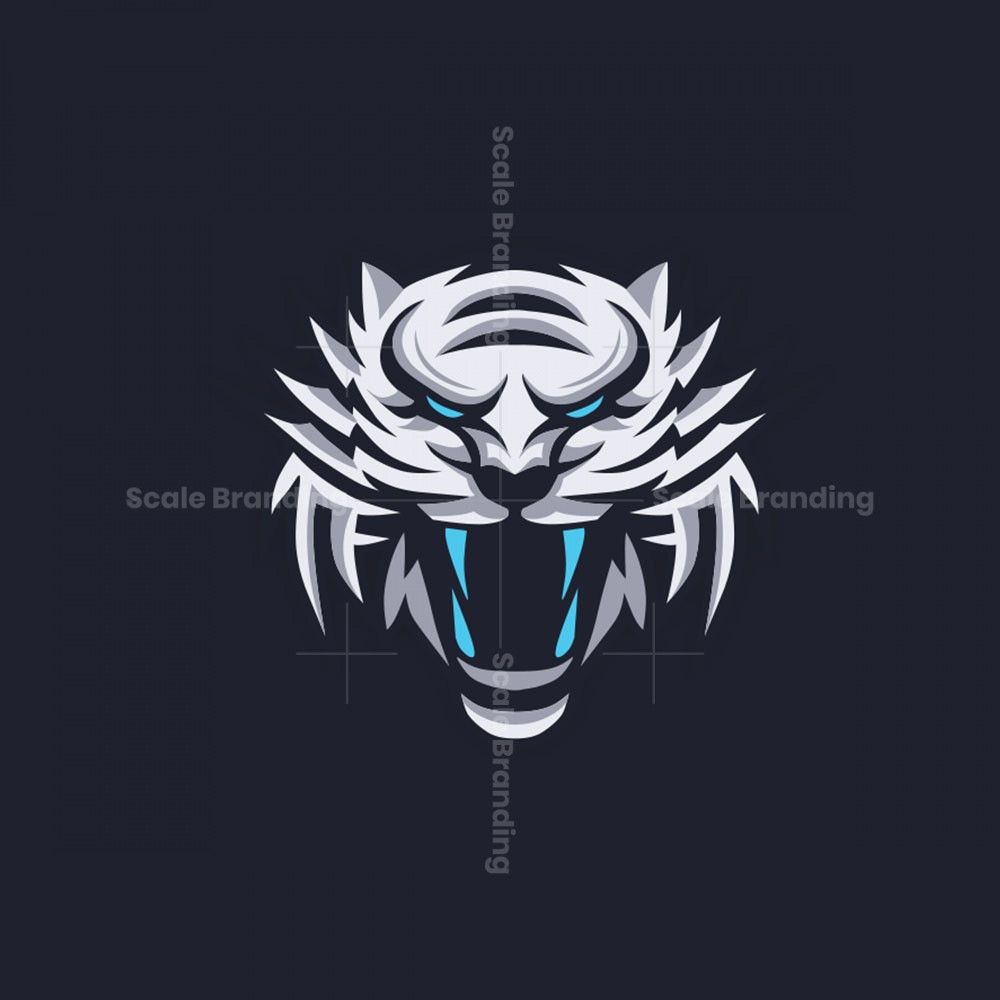 Logo Mascot White Tiger Tiger Design White Tiger Tiger Logo