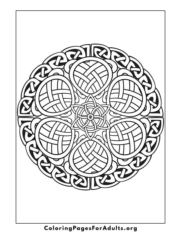 Coloring Pages For Grown Ups Mandala Coloringpages