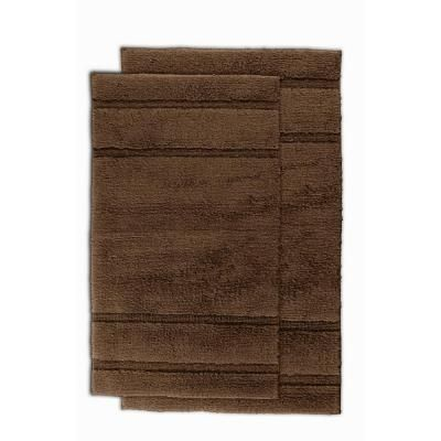 Garland Rug Majesty Cotton Chocolate 21 in. x 34 in. Washable Rug 2 Piece Rug Set-PRI-2pc-14 at The Home Depot-$29.97