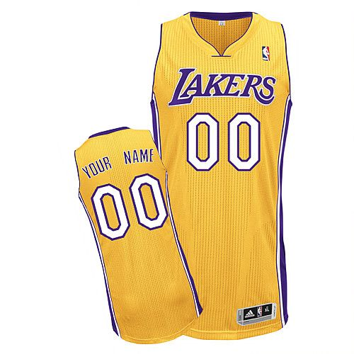 e9dab6f0e Lakers Personalized Authentic Yellow NBA Jersey (S-3XL)