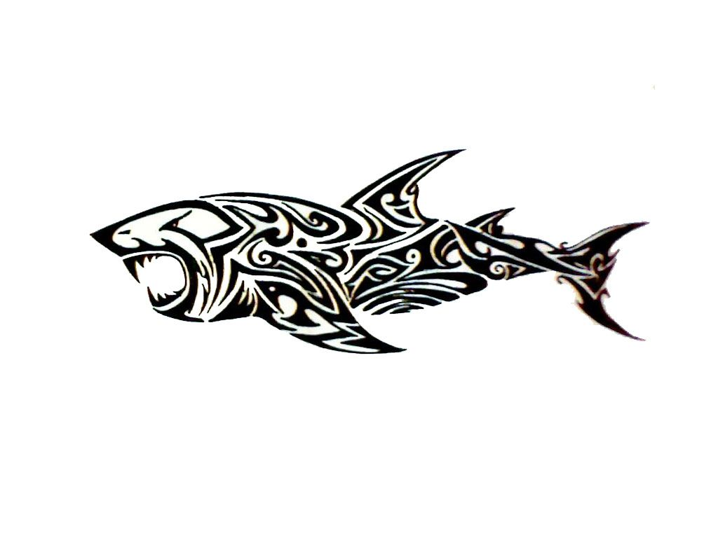 Shark tribal. Hawaiian tattoos symbol meanings