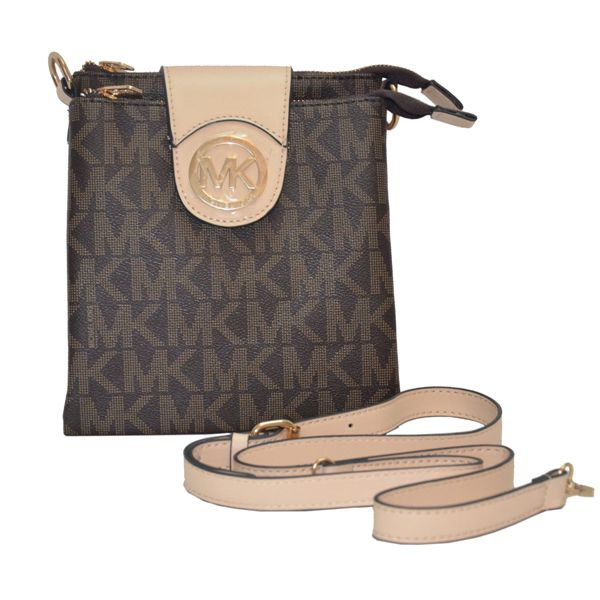 Explore Cheap Michael Kors Purses and more! Michael Kors Logo Signature  Small Brown Shoulder Bag