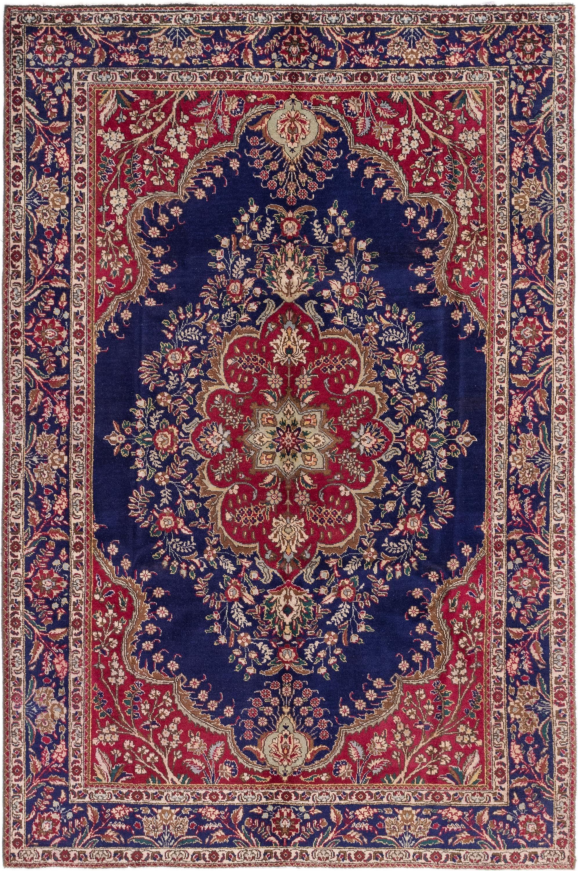 Navy Blue 6 X 10 Tabriz Persian Rug Rugs