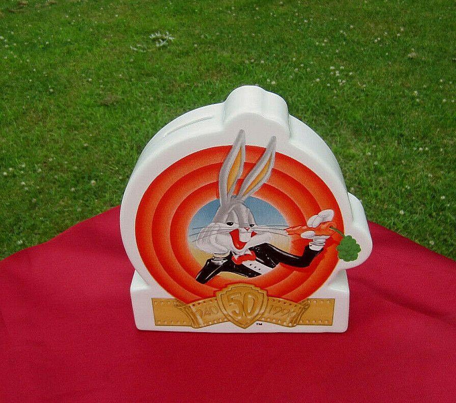 Bugs Bunny 50TH Anniversary Collectible Ceramic Bank Vtg