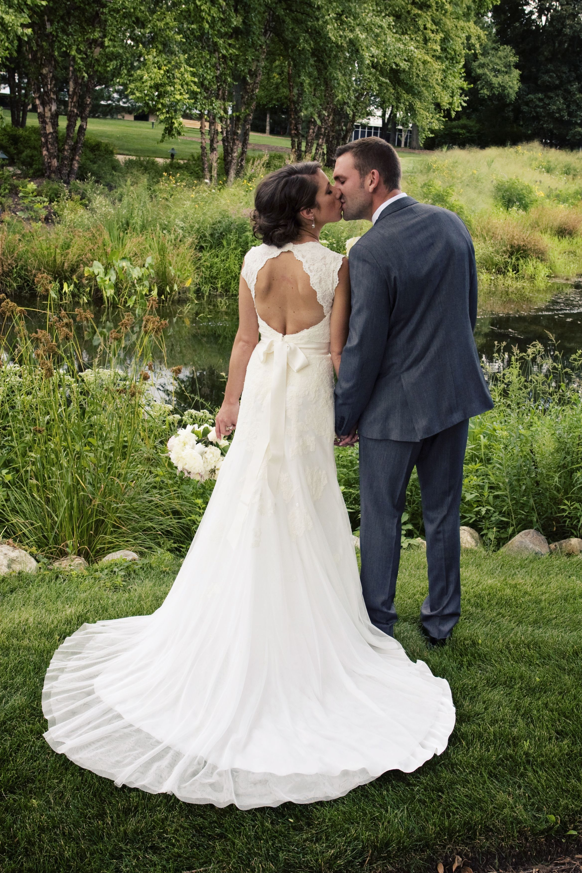 Pin By Kelly Swisher On My Wedding Wedding Dresses Beige Wedding Dress Keyhole Back Wedding Dress