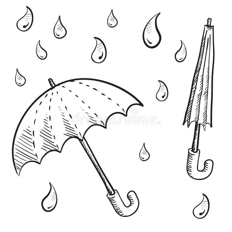 Foto Acerca Doodle Los Paraguas Del Estilo Y Las Ilustraciones Del Vector De La Gota De Lluvia Ilustración De Rain How To Draw Hands Umbrella Umbrella Drawing