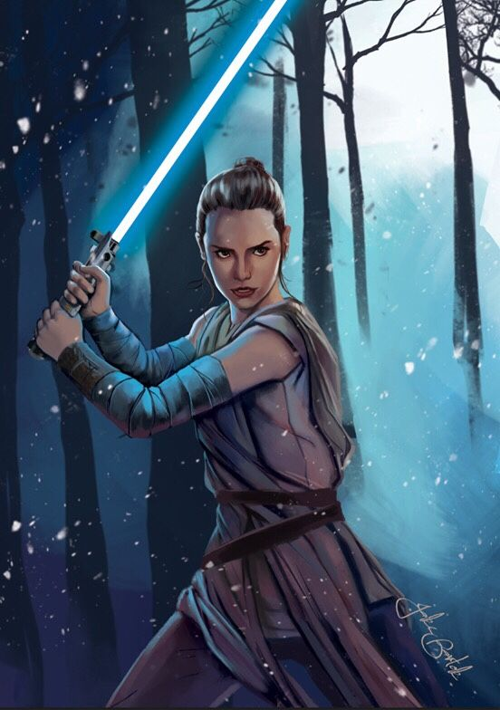 Recently completed painting of Rey. My favourite character from the Force Awakens. Can't wait until the Last Jedi comes out! Get ready for many more artworks of Rey. :)