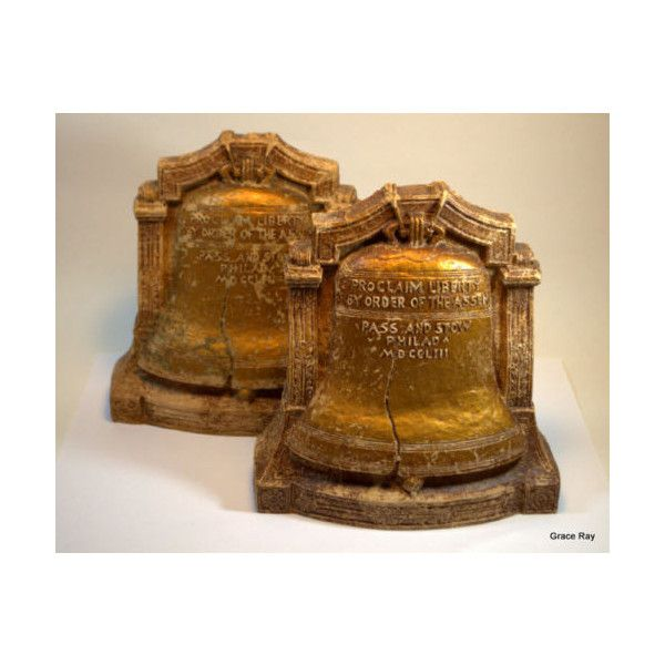 Pair of vintage Liberty Bell bookends Library Decor Home Decor ...