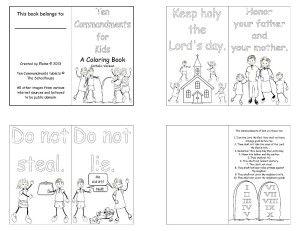 Ten Commandments for Kids | Catholic coloring, Coloring ...