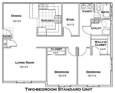 Pin By Zeezee On For The Home Pinterest 2 Bedroom Apartment Floor Plan Garage Apartment Floor Plans Apartment Floor Plans