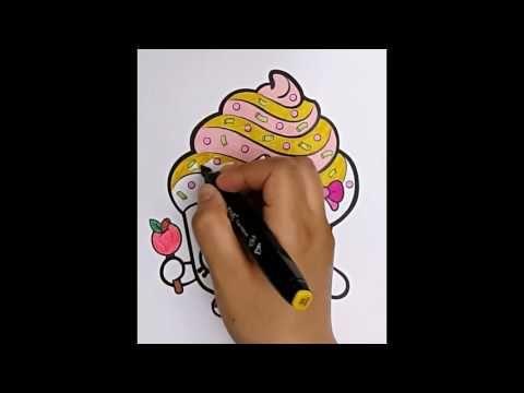 Cupcake Queen Shopkin coloring; How to color Shopkins ...