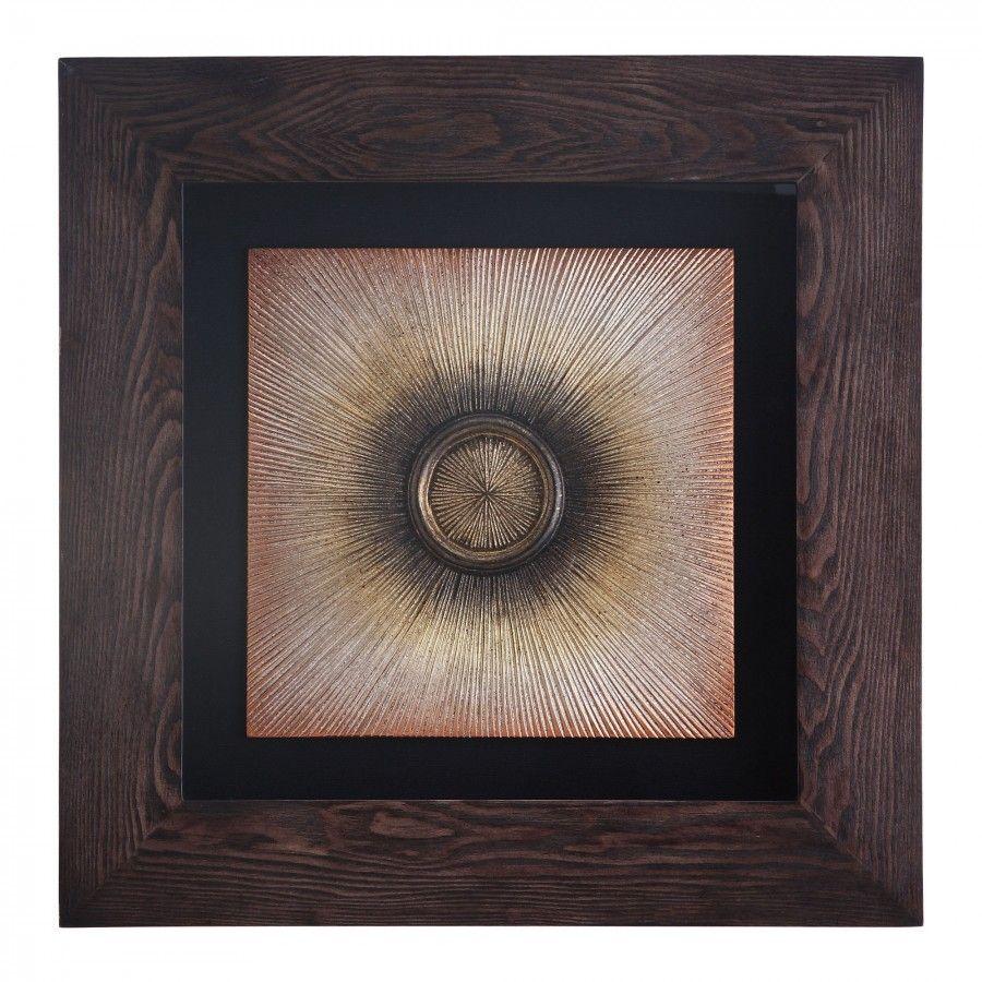 Crestview burst of light laser wood framed wall decor
