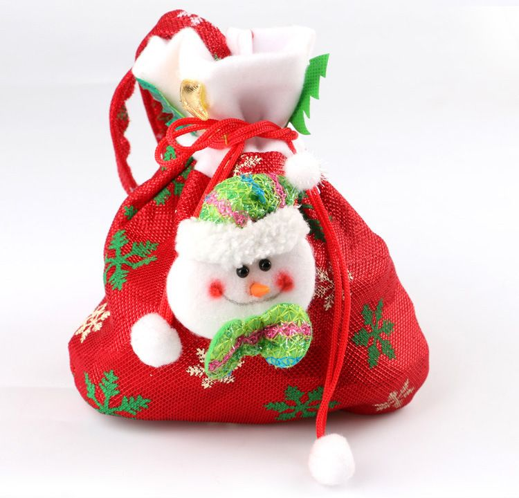 11ad791c67af Creative Santa Claus Snowman 3 kinds of styles Candy Gift Bags For Party  XMAS Christmas Tree