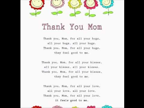 Thank You Mom (Motheru0027s Day Rhymes \ Songs) wwwloving2learn - best of i love you mommy and daddy coloring pages