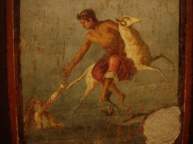 This Roman Mural From Pompeii C 45 79 Ce Depicts Helle Falling