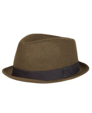 Levi s Men s Brushed Trilby Fedora - Green S M 945338a98003