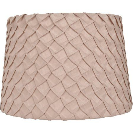 Lamp Shades At Walmart Beauteous Better Homes & Gardens® Beige Pleated Squares Tapered Drum Shade Design Decoration