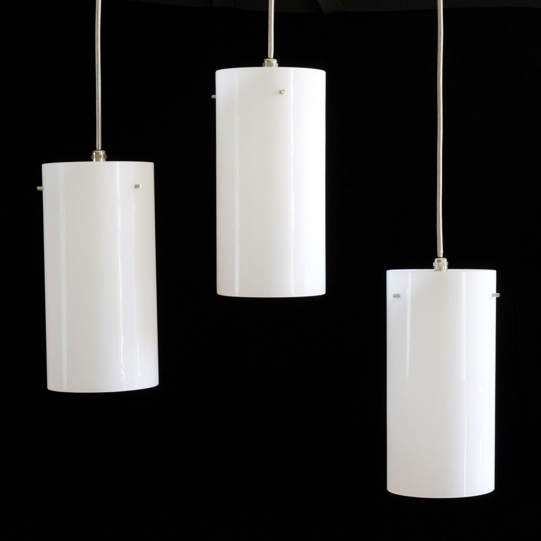 White Glass Cylinder Pendant Lights Pendant Lighting Light