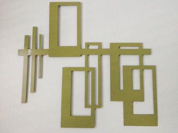 Art Deco Midcentury Modern Mcm Design Metal Wall Art Custom Metal Art Mcm Design Metal Wall Art