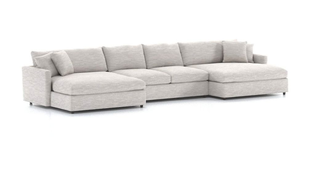 Lounge Ii 3 Piece Double Chaise Sectional Sofa Reviews Crate And Barrel In 2020 Double Chaise Sectional Sectional Sofa Crate Barrel