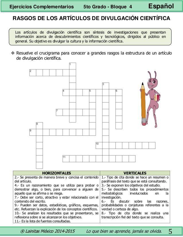5to Grado Bloque 4 Ejercicios Complementarios Ejercicios Metodo Cientifico Grado