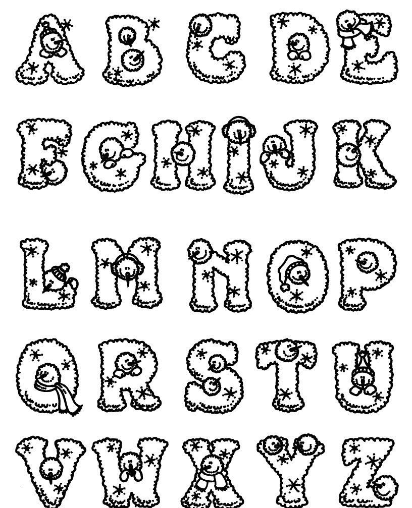 Alphabet Coloring Pages A Z For Kids Free Printable Abc Coloring Pages Alphabet Coloring Pages Abc Coloring