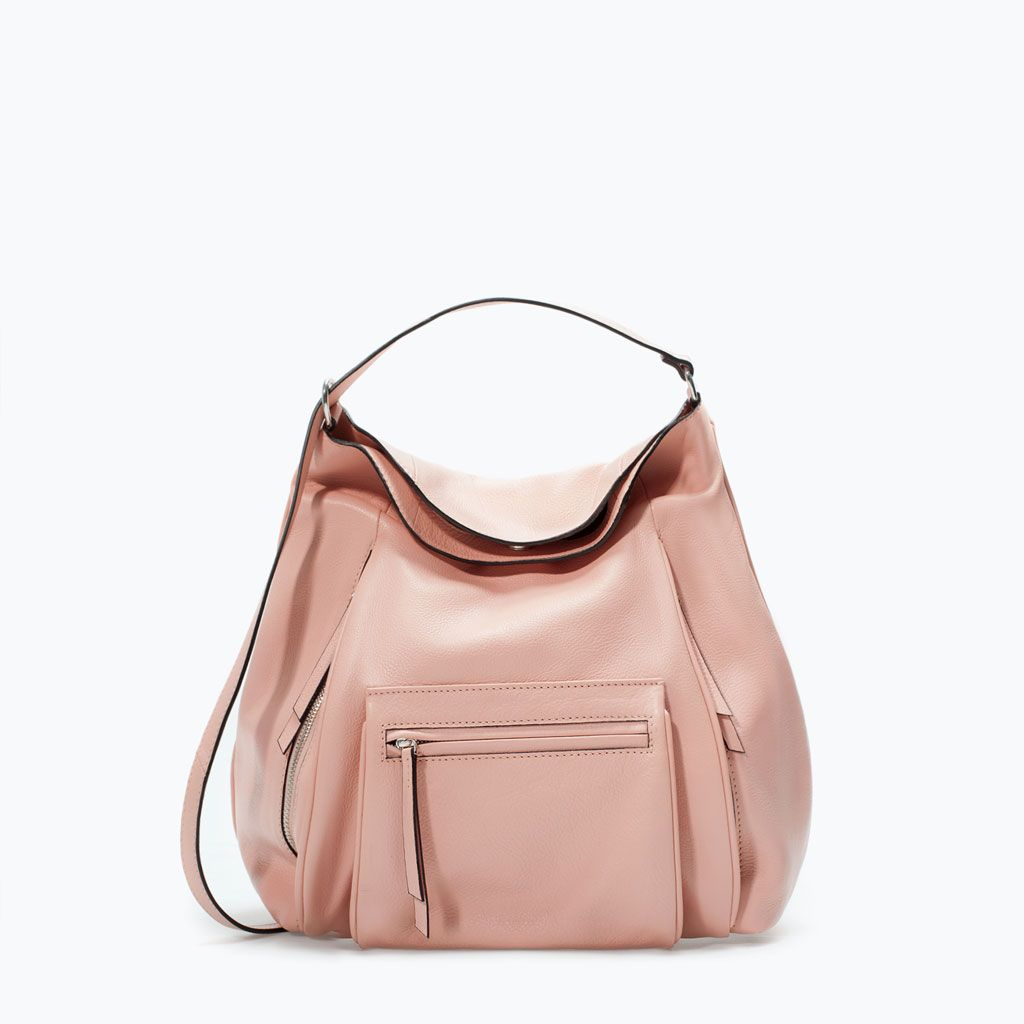 2e3887b3d5 LEATHER BUCKET BAG WITH FRONT POCKET from Zara   Bags   Zara bags ...