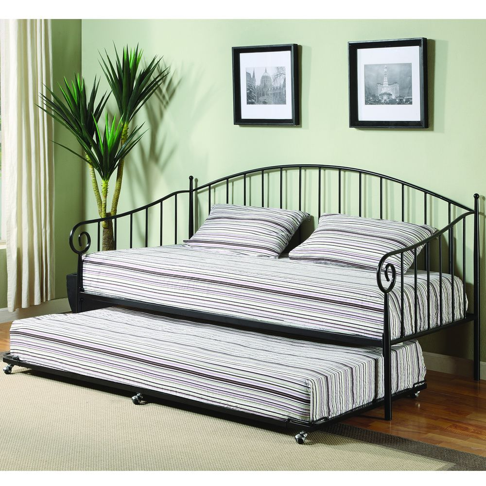 k b bt01 black finish day bed overstock com shopping the best