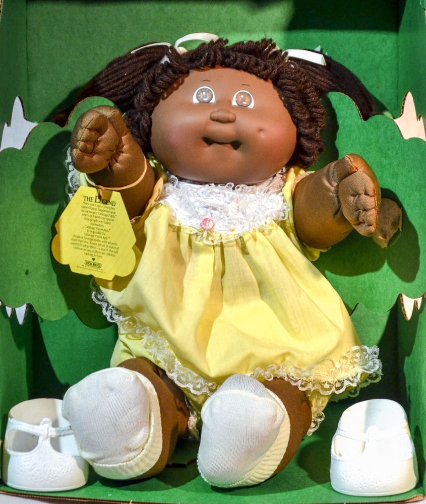 Cabbage Patch Doll 1984 Adrienne Dorine In Box Black W Papers Black Cabbage Patch Doll Cabbage Patch Dolls Cabbage Patch Babies