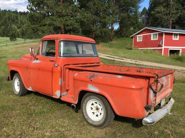 1957 1 2 Ton Pickup Step Side Wrap Around Rear Window Chevy