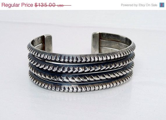 Sawtooth Sterling Silver Wide Gothic Vintage by thejewelseeker, $108.00 #Teamlove #vintage #jewelry #Fashion #etsyretwt