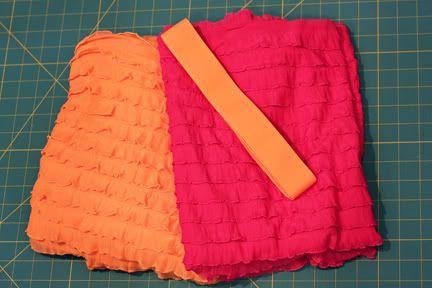 Two Tone Ruffle Skirt