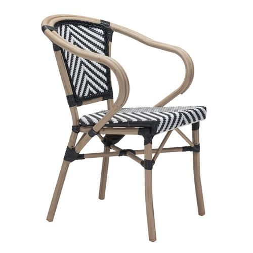 Francois French Country Faux Bamboo Black And White