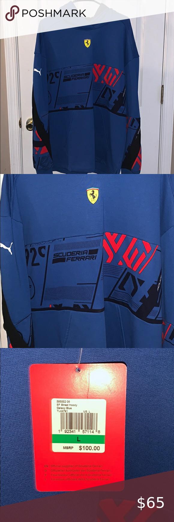 Brand New Puma Ferrari Hoodie Hoodie Brands Sweatshirt Shirt Puma Shirts