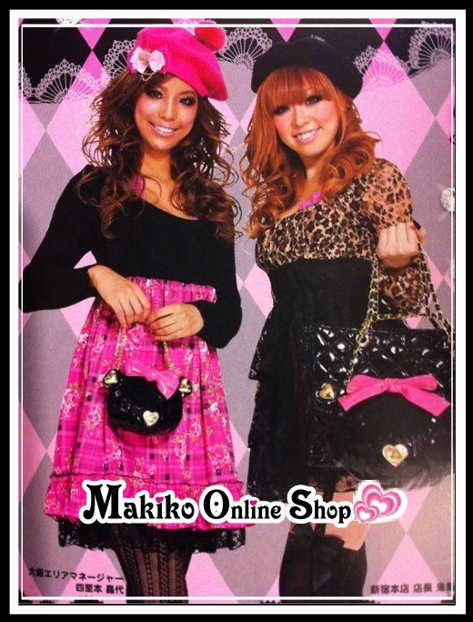Japan MA*RS MARS original single limited edition AGEHA HIME style! (KAWAII Bear + patent leather handbags SET)_Bag_★ Makiko Online Shop ☆ Japan Gal's Collection ★ - Powered by ECShop