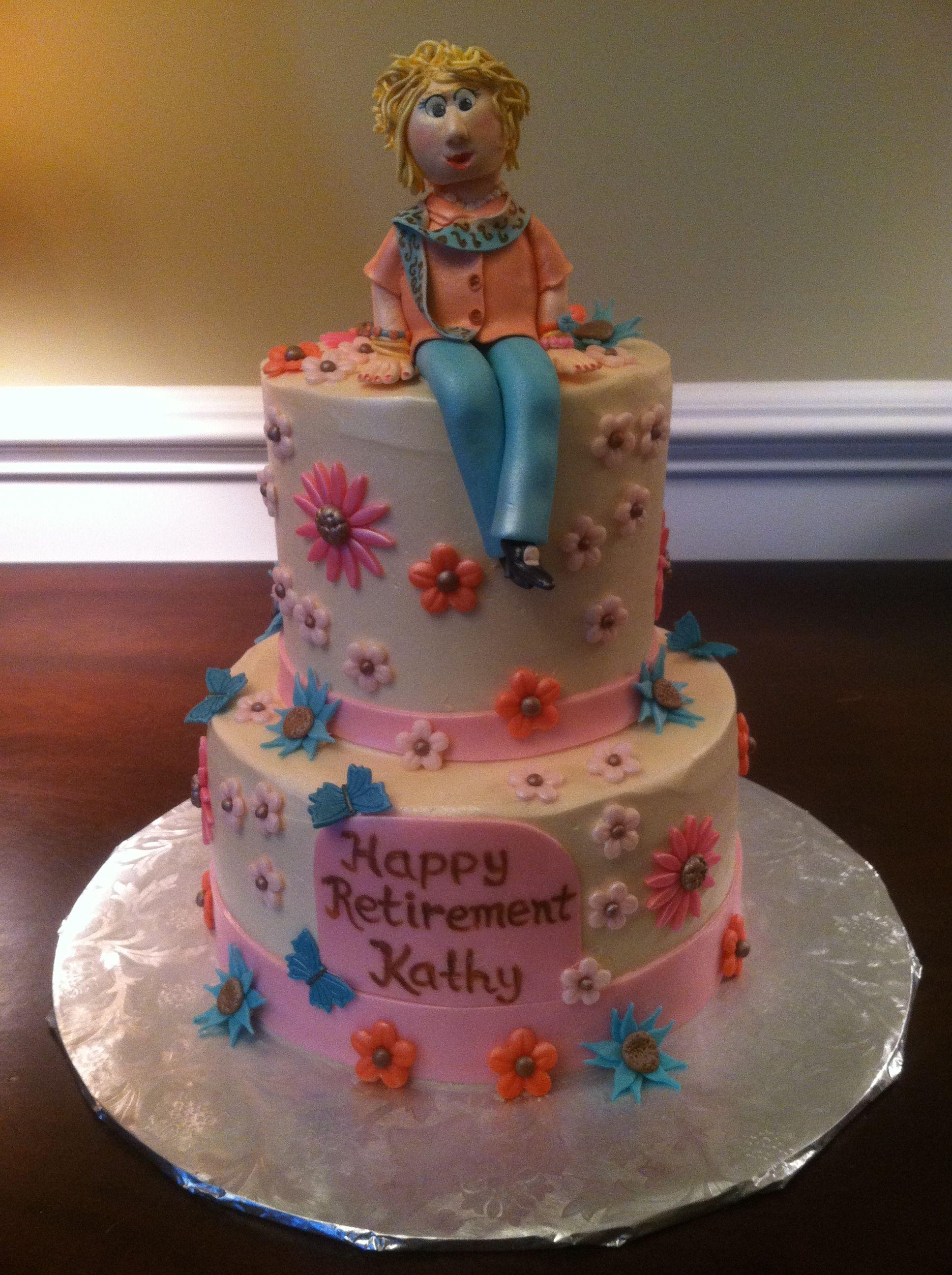 Happy retirement cake happy retirement retirement cakes
