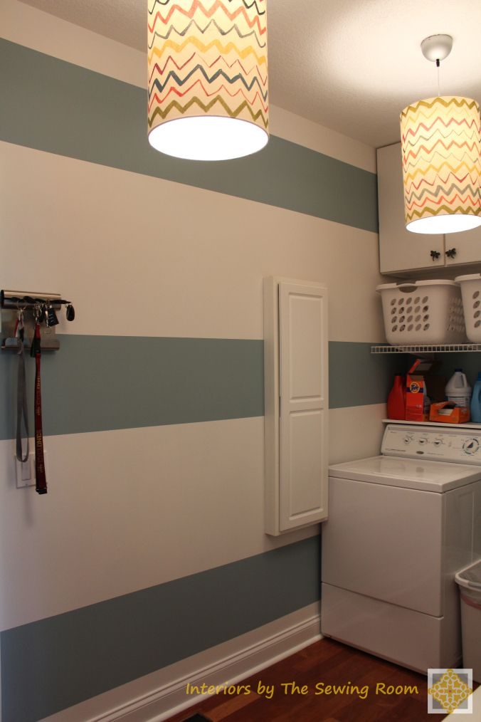 Laundry Room Stripes Inspiration - Interiors by The Sewing ...