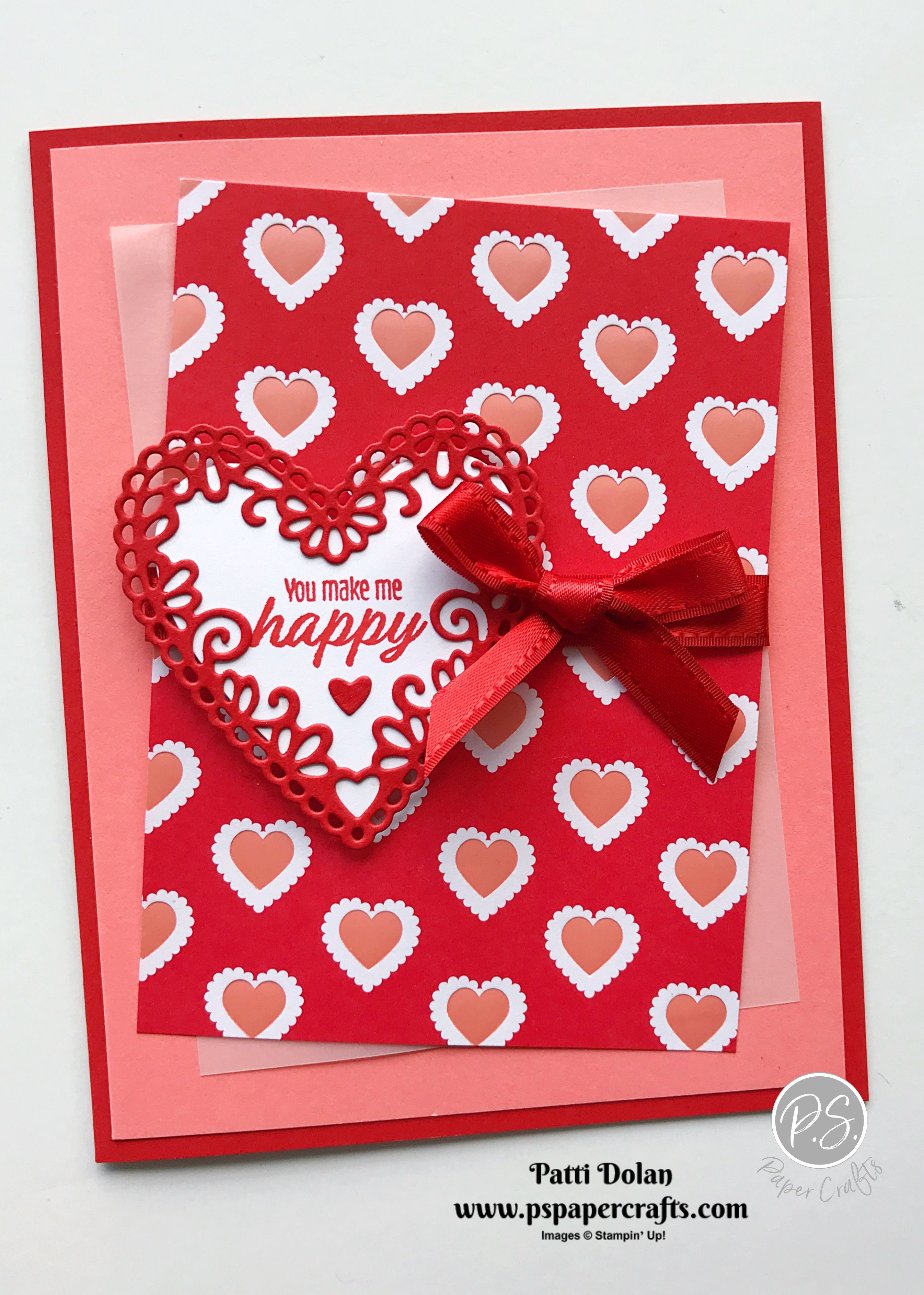 You Make Me Happy Valentine S Day Card P S Paper Crafts In 2020 Happy Valentines Day Card Valentine Cards Handmade Valentines Cards