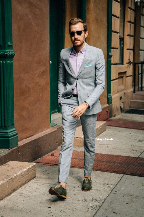 summer suit // linen suit, summer style, wedding suit, sockless ...