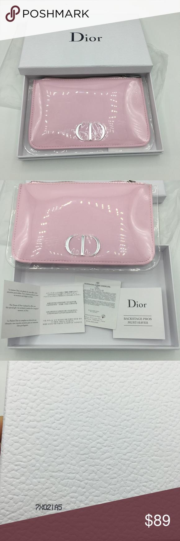 NWOT Pink Dior Makeup bag Pink makeup bag, Dior, Makeup bag