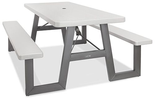 Folding Picnic Tables Fold Up Picnic Tables In Stock Uline