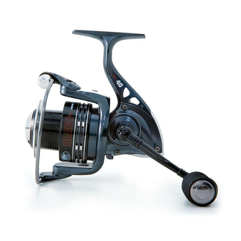 Carrete Linea Effe Black Wish 10, especial para pesca a la inglesa, spinning o bolognesa. 1 Bobina de aluminio + 1 bobina suplementaria de grafito.