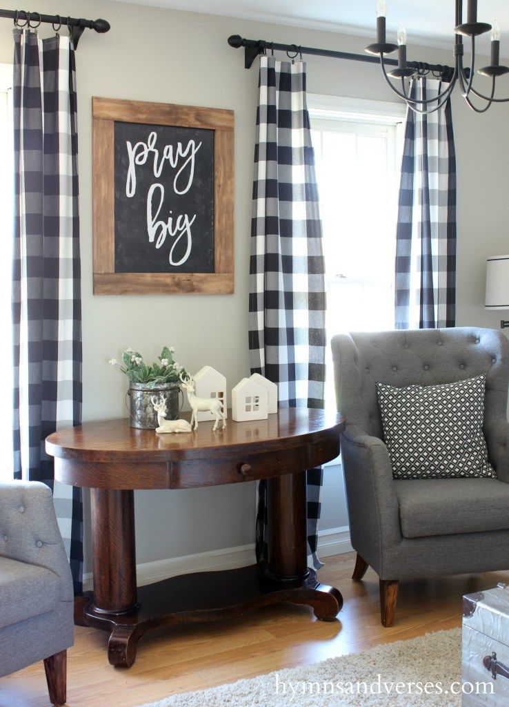 Pray Big Chalkboard Printable Prayer Request Page Curtains Living Room Rustic Living Room Room Decor