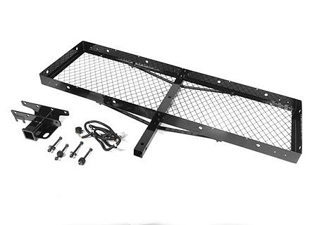 Rugged Ridge Hitch, Wire Harness, & Cargo Rack Package