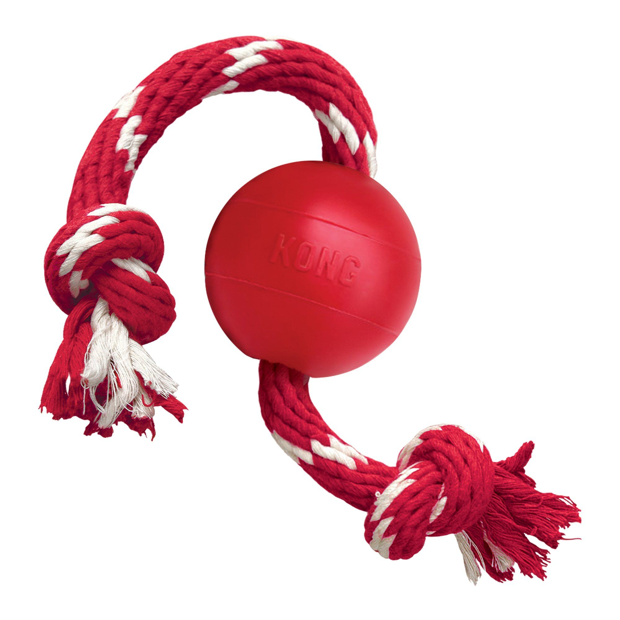 Kong Ball W Rope Dog Toy Small Red Small Dog Toys Kong Dog