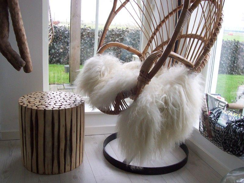 Zeldzame rotan hangstoelen vintage jaren hangstoelen