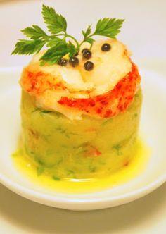 La cuisine de Juliette: Emincé de homard sur une purée de pommes de terre aux herbes, vinaigrette au Sauternes. Un amuse-bouche des Frères Pourcel pour vos menus de fêtes